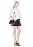 ALEXANDER WANG CHASTITY MINI IN HEAVY CRACKED BLACK WITH RHODIUM Shoulder bag Adult 8_n_r