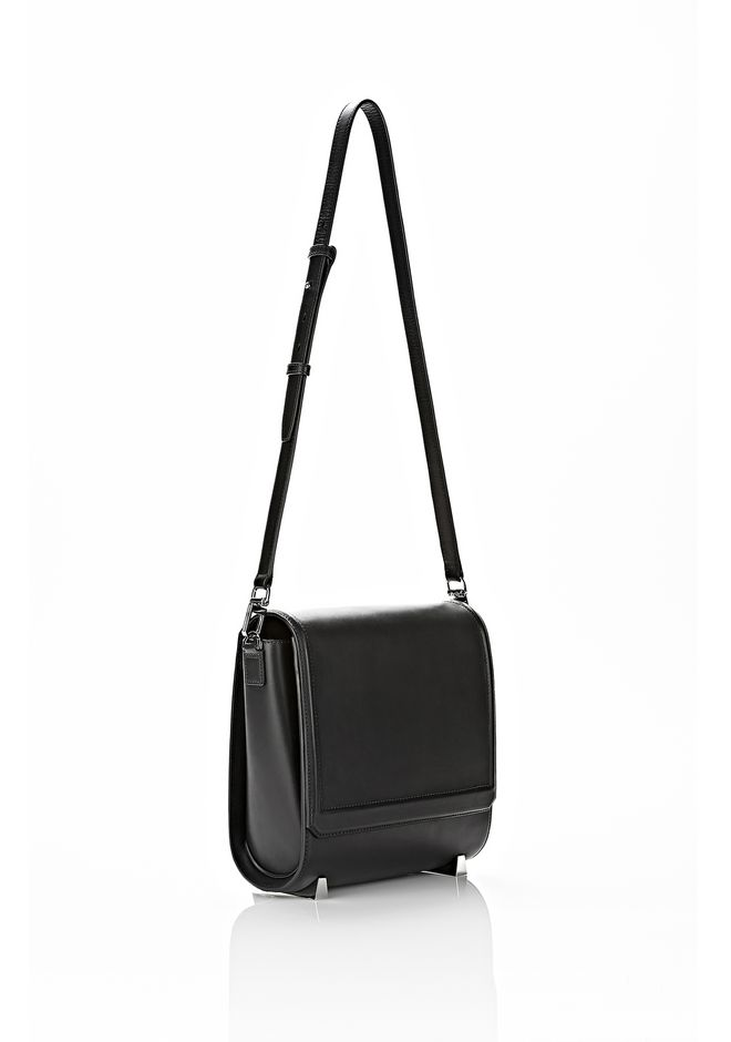 ALEXANDER WANG CHASTITY MESSENGER IN SMOOTH BLACK Shoulder bag Adult 12_n_a
