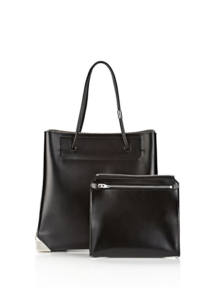 ALEXANDER WANG PRISMA LARGE TOTE IN EMBOSSED OYSTER TOTE Adult 12_n_d