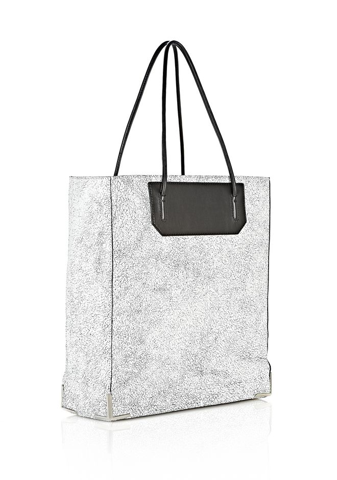 ALEXANDER WANG PRISMA SKELETAL TOTE IN MATTE CRACKED PEROXIDE WITH RHODIUM TOTE/DEL Adult 12_n_e