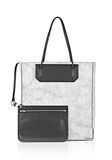 ALEXANDER WANG PRISMA SKELETAL TOTE IN MATTE CRACKED PEROXIDE WITH RHODIUM TOTE/DEL Adult 8_n_d