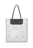 ALEXANDER WANG PRISMA SKELETAL TOTE IN MATTE CRACKED PEROXIDE WITH RHODIUM TOTE/DEL Adult 8_n_f