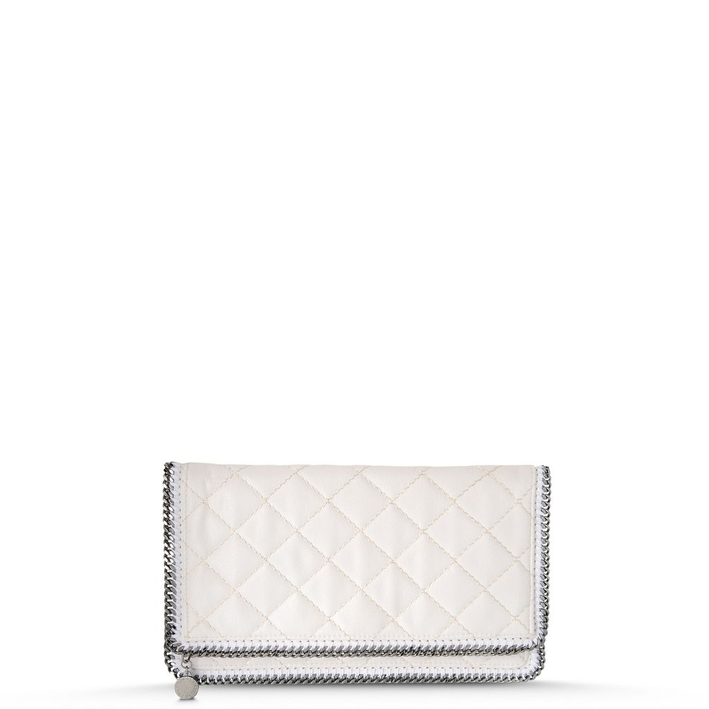 Falabella Quilted Shaggy Deer Fold Over Clutch - STELLA MCCARTNEY