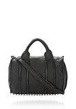 ALEXANDER WANG INSIDE OUT ROCCO IN BLACK RUBBER LAMINATED Shoulder bag Adult 8_n_f