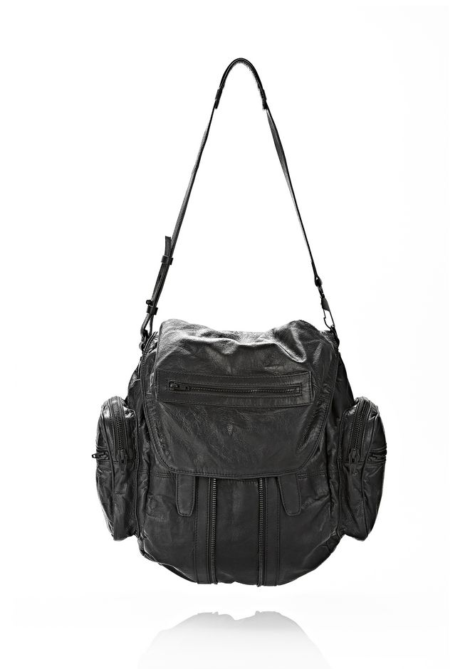ALEXANDER WANG MARTI BACKPACK IN BLACK WITH MATTE BLACK BACKPACK Adult 12_n_d