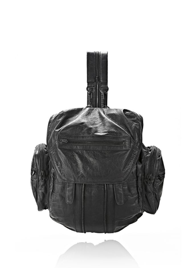 ALEXANDER WANG MARTI BACKPACK IN BLACK WITH MATTE BLACK BACKPACK Adult 12_n_f