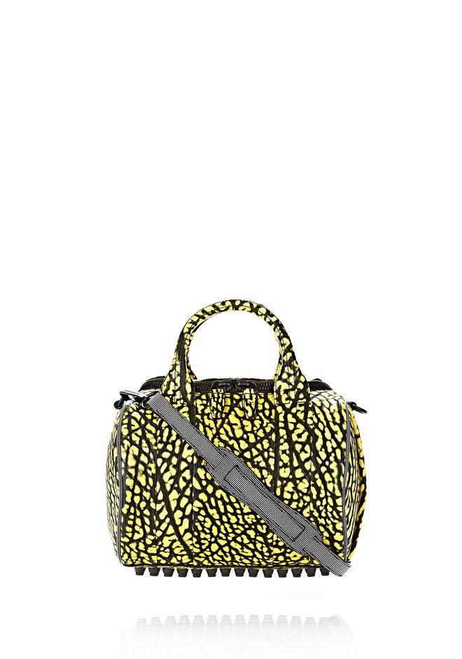 ALEXANDER WANG ROCKIE SLING IN CONTRAST TIP CITRON Shoulder bag Adult 12_n_f