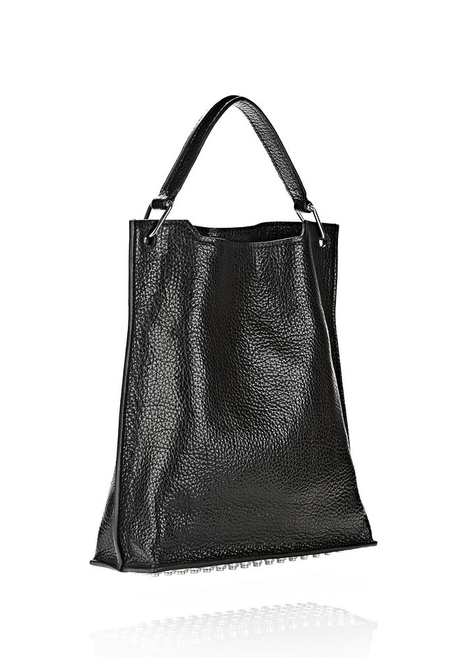 ALEXANDER WANG INSIDE OUT DARCY TOTE IN SHINY BLACK TOTE/DEL Adult 12_n_d
