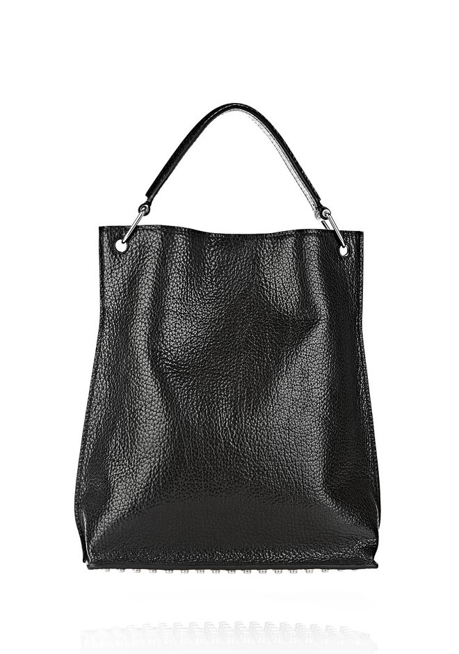 ALEXANDER WANG INSIDE OUT DARCY TOTE IN SHINY BLACK TOTE/DEL Adult 12_n_e