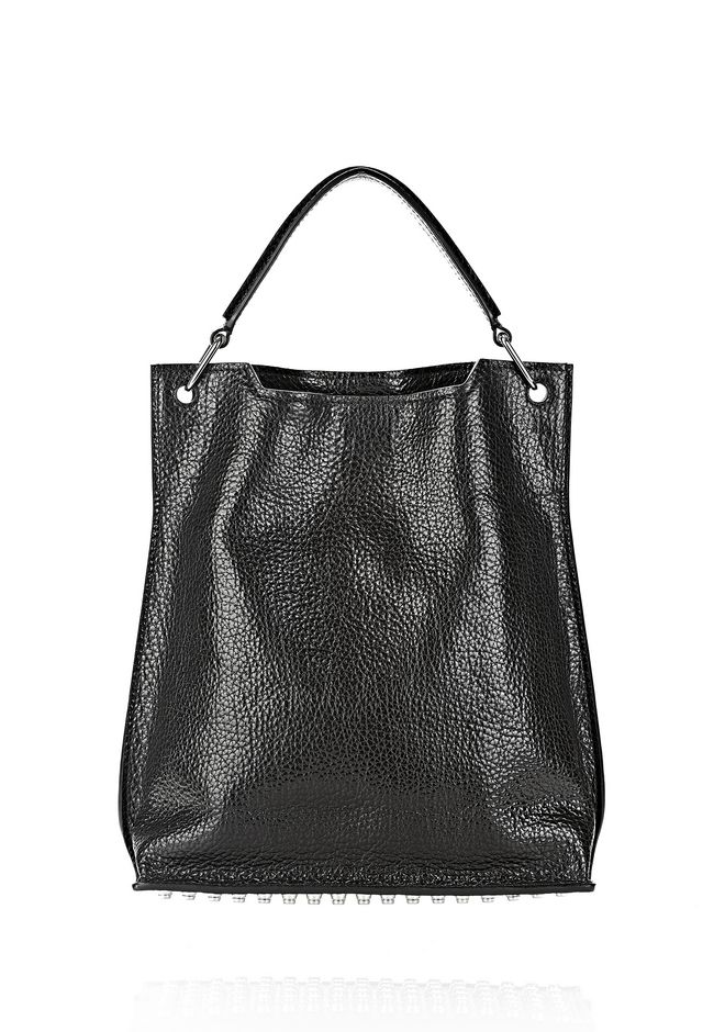 ALEXANDER WANG INSIDE OUT DARCY TOTE IN SHINY BLACK TOTE/DEL Adult 12_n_f