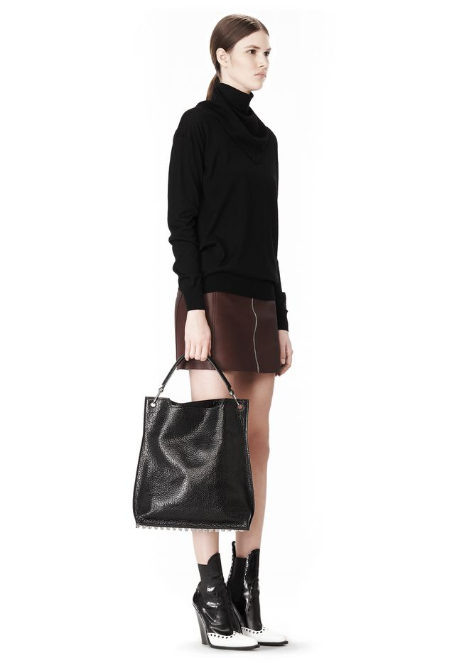 ALEXANDER WANG INSIDE OUT DARCY TOTE IN SHINY BLACK TOTE/DEL Adult 12_n_r