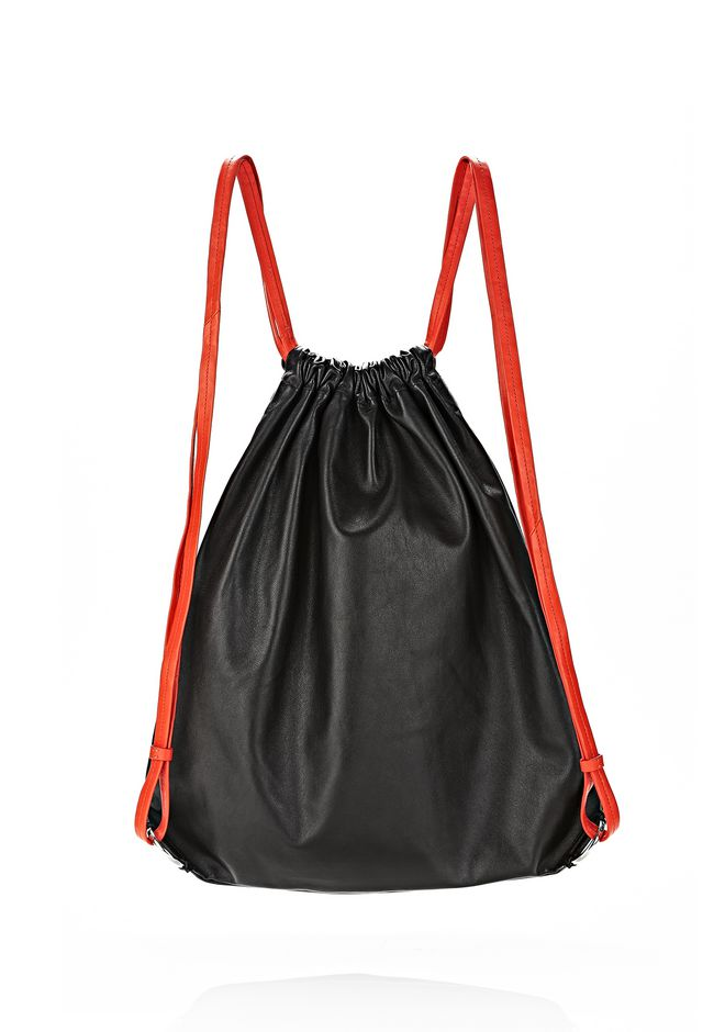 ALEXANDER WANG GYM SACK IN BLACK GLOVE  BACKPACK Adult 12_n_d