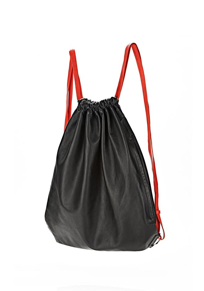 ALEXANDER WANG GYM SACK IN BLACK GLOVE  BACKPACK Adult 12_n_e