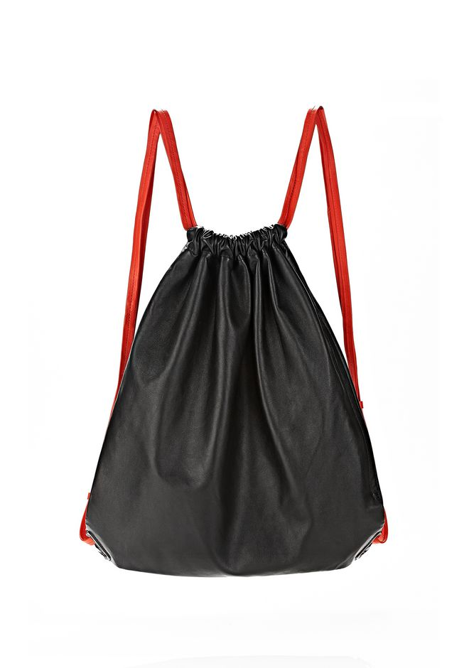 ALEXANDER WANG GYM SACK IN BLACK GLOVE  BACKPACK Adult 12_n_f