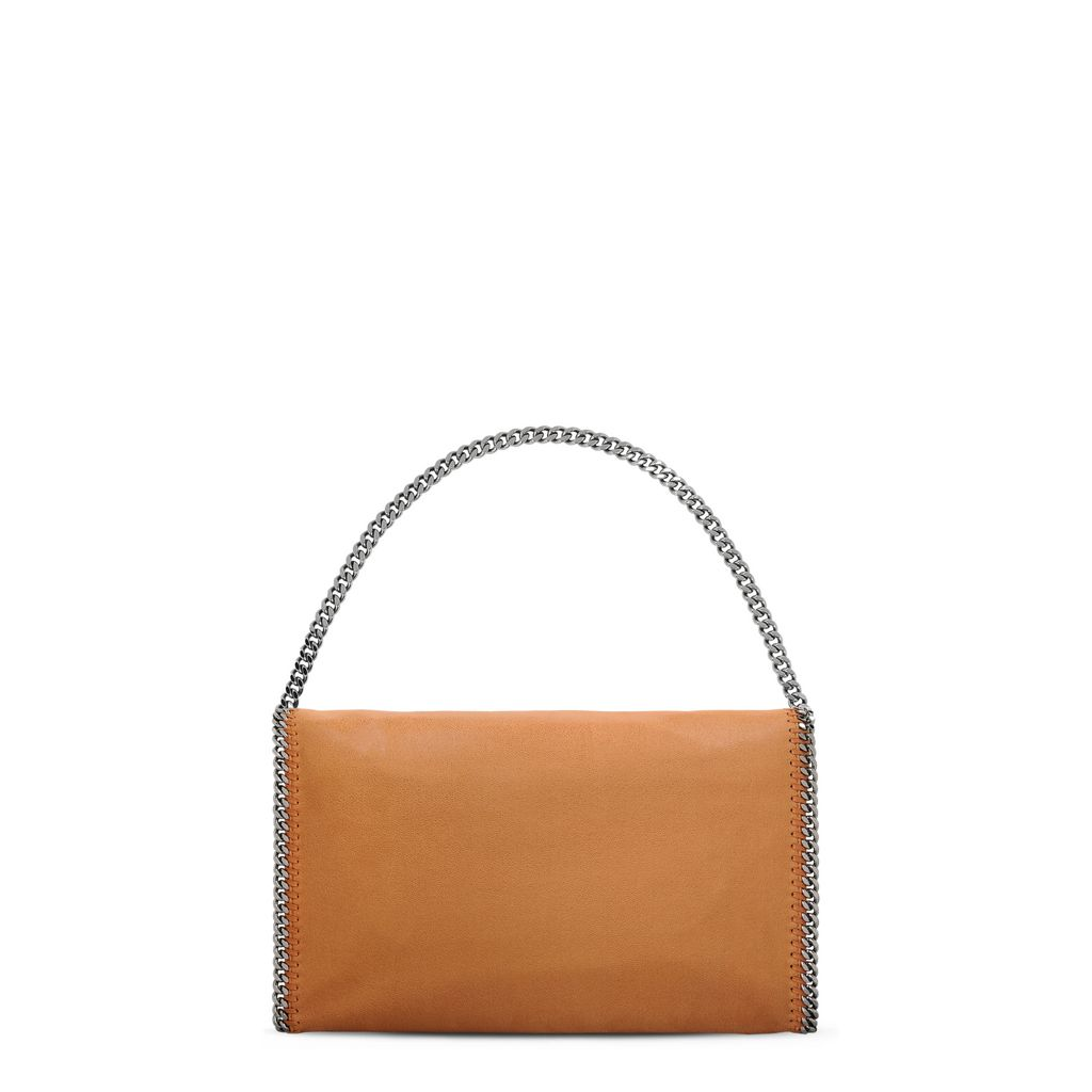Tan Falabella Shaggy Deer Fold Over Tote - STELLA MCCARTNEY