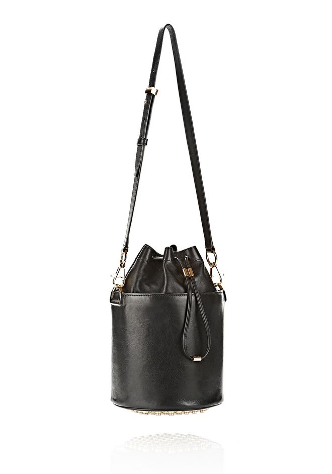 ALEXANDER WANG BUCKET BAG IN  BLACK WITH YELLOW GOLD Shoulder bag Adult 12_n_e