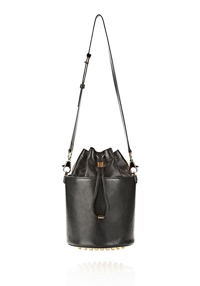 ALEXANDER WANG BUCKET BAG IN  BLACK WITH YELLOW GOLD Shoulder bag Adult 12_n_f