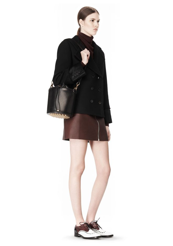 ALEXANDER WANG BUCKET BAG IN  BLACK WITH YELLOW GOLD Shoulder bag Adult 12_n_r