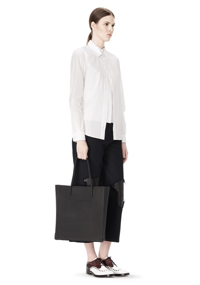 ALEXANDER WANG SILICON TOTE IN BLACK TOTE Adult 12_n_r