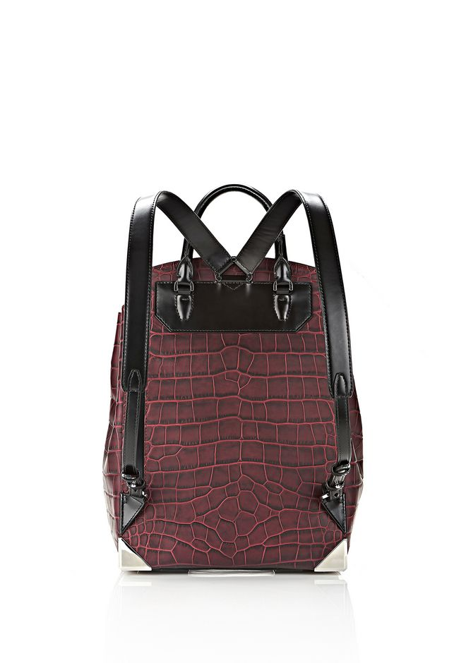 ALEXANDER WANG PRISMA SKELETAL BACKPACK IN BEET BACKPACK Adult 12_n_d