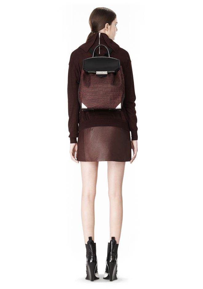 ALEXANDER WANG PRISMA SKELETAL BACKPACK IN BEET BACKPACK Adult 12_n_r