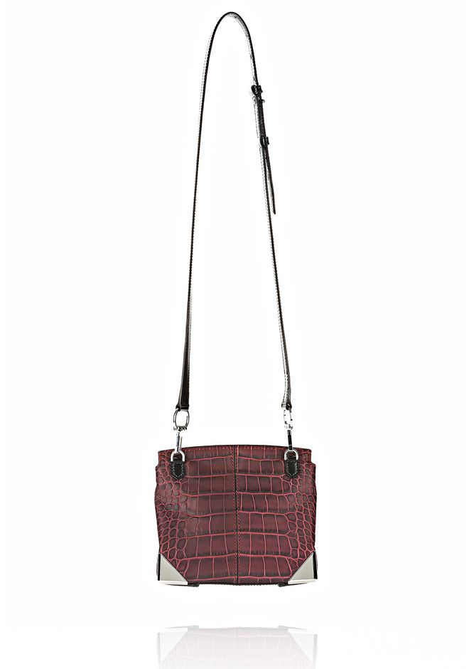 ALEXANDER WANG MARION SLING IN EMBOSSED BEET Shoulder bag Adult 12_n_d