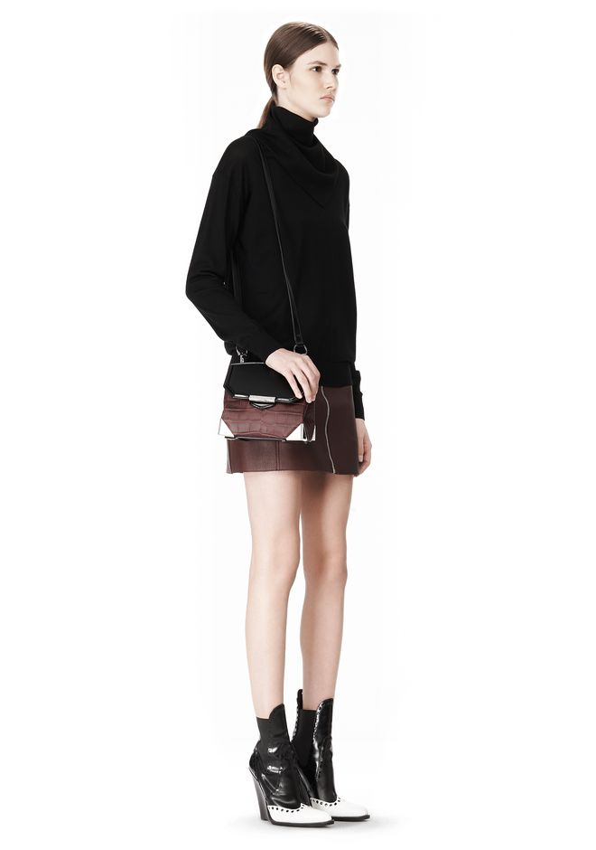ALEXANDER WANG MARION SLING IN EMBOSSED BEET Shoulder bag Adult 12_n_r