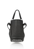 ALEXANDER WANG INSDIE OUT DIEGO BUCKET IN BLACK RUBBER LAMINATED Shoulder bag Adult 8_n_d