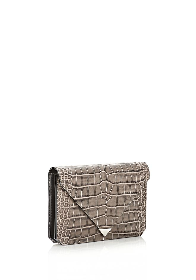 ALEXANDER WANG PRISMA ENVELOPE IN EMBOSSED OYSTER CLUTCH Adult 12_n_d
