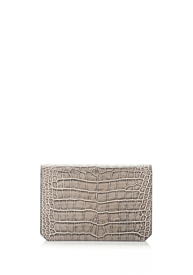 ALEXANDER WANG PRISMA ENVELOPE IN EMBOSSED OYSTER CLUTCH Adult 12_n_e