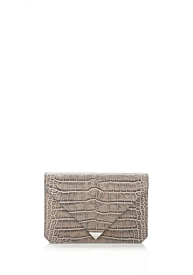 ALEXANDER WANG PRISMA ENVELOPE IN EMBOSSED OYSTER CLUTCH Adult 12_n_f