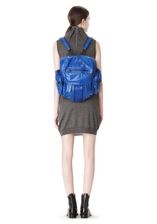 ALEXANDER WANG MARTI BACKPACK IN NILE WITH MATTE BLACK BACKPACK Adult 12_n_r