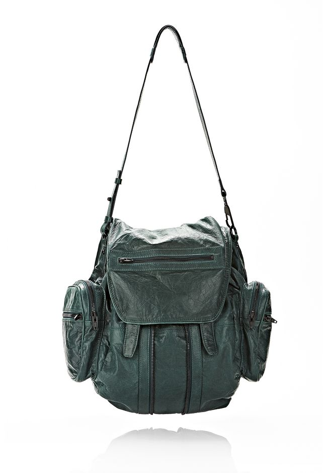 ALEXANDER WANG MARTI BACKPACK IN BOTTLE WITH MATTE BLACK BACKPACK Adult 12_n_d