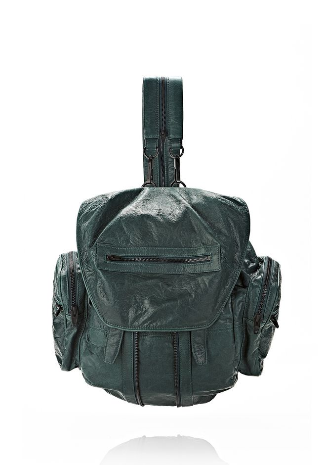 ALEXANDER WANG MARTI BACKPACK IN BOTTLE WITH MATTE BLACK BACKPACK Adult 12_n_f