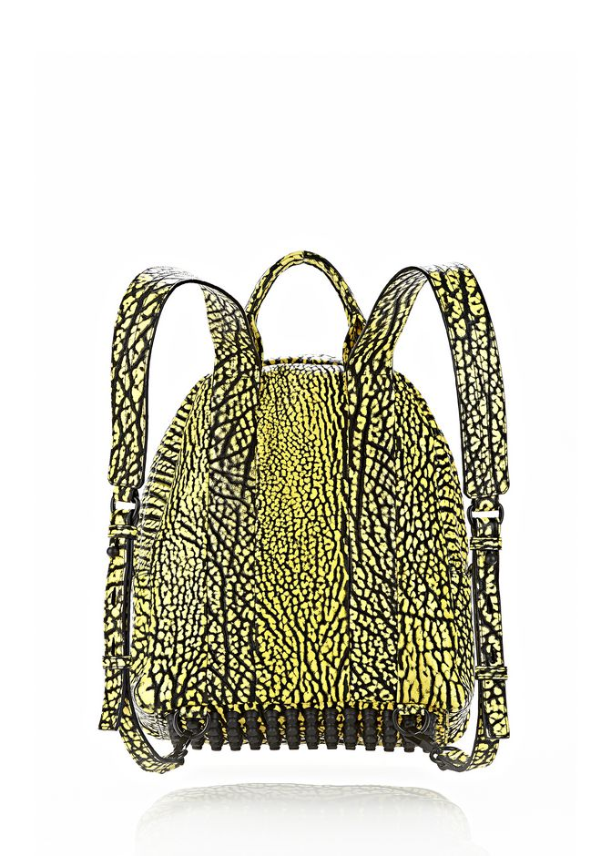 ALEXANDER WANG DUMBO BACKPACK IN CONTRAST TIP CITRON BACKPACK Adult 12_n_d