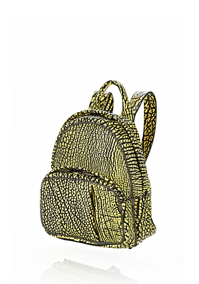 ALEXANDER WANG DUMBO BACKPACK IN CONTRAST TIP CITRON BACKPACK Adult 12_n_e