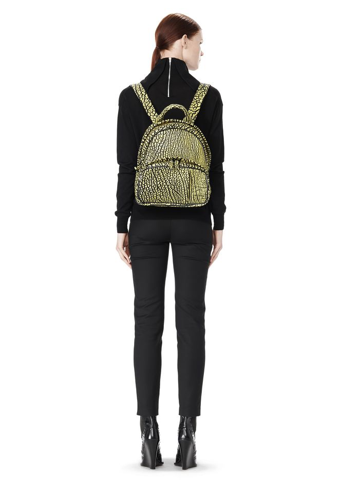 ALEXANDER WANG DUMBO BACKPACK IN CONTRAST TIP CITRON BACKPACK Adult 12_n_r