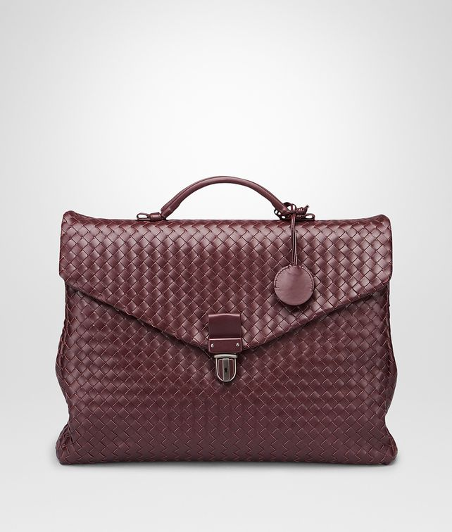 BOTTEGA VENETA BUSINESS BAG AUBERGINE IN VN INTRECCIATO Borsa Business U fp