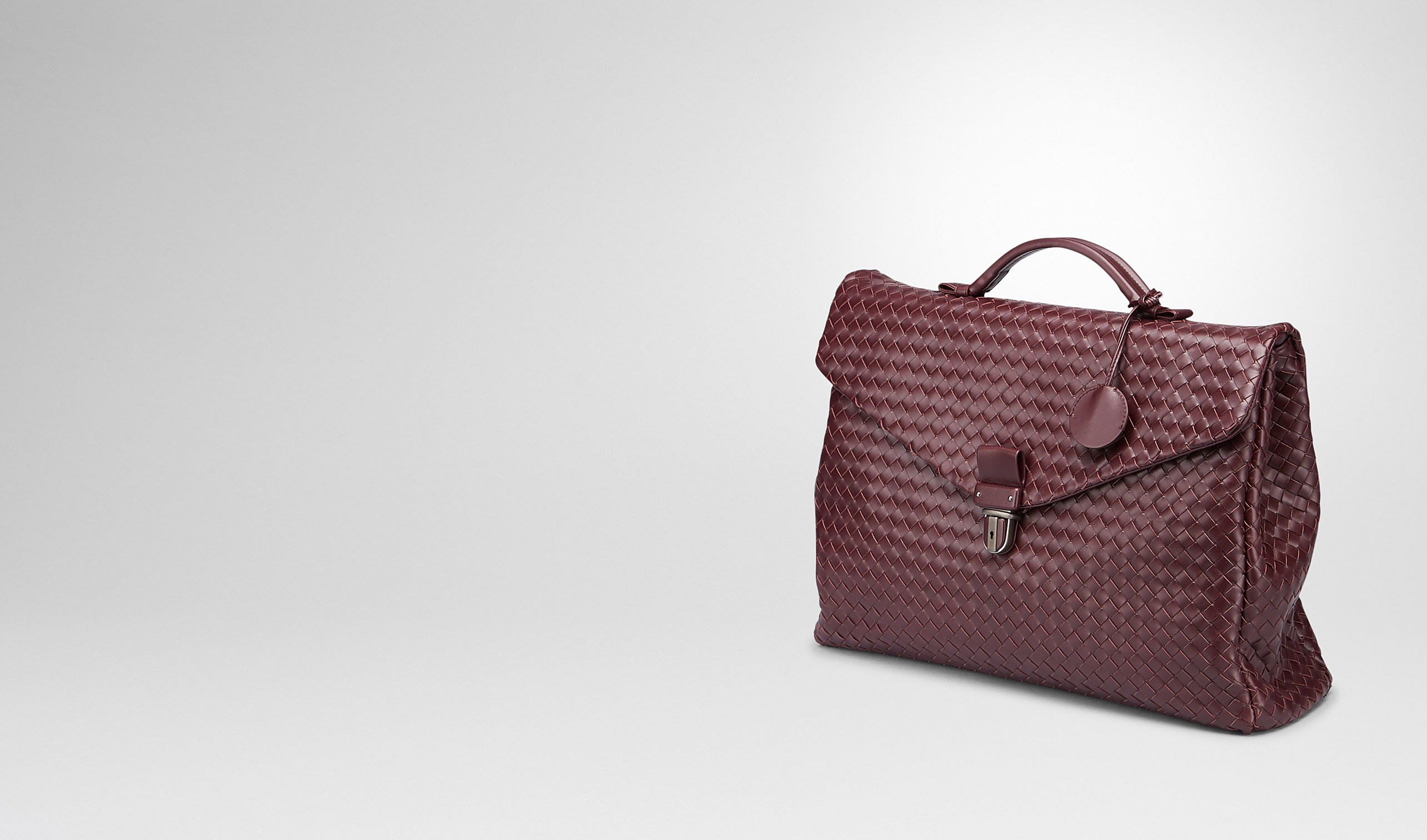 BOTTEGA VENETA Borsa Business U BUSINESS BAG AUBERGINE IN VN INTRECCIATO pl
