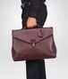 BOTTEGA VENETA BUSINESS BAG AUBERGINE IN VN INTRECCIATO Borsa Business U ap