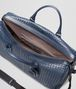 BOTTEGA VENETA LARGE DUFFEL BAG IN LIGHT TOURMALINE INTRECCIATO VN Luggage E dp
