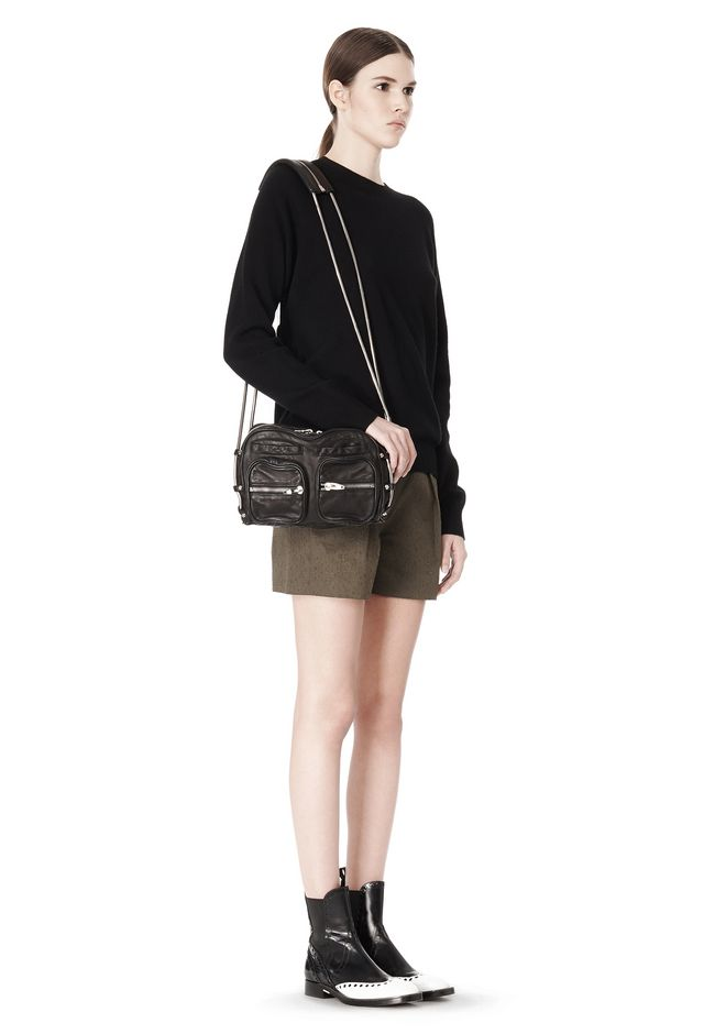 ALEXANDER WANG BRENDA CHAIN IN WASHED BLACK  WITH RHODIUM Shoulder bag Adult 12_n_r