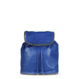 STELLA McCARTNEY Falabella Backpacks D Blue Falabella Shaggy Deer Backpack f