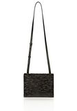 ALEXANDER WANG PRISMA SKELETAL DOUBLE ENVELOPE IN PONY WITH MATTE BLACK CLUTCH Adult 8_n_f
