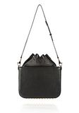 ALEXANDER WANG FLAT BUCKET BAG IN BLACK WITH YELLOW GOLD Shoulder bag Adult 8_n_d