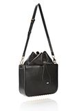ALEXANDER WANG FLAT BUCKET BAG IN BLACK WITH YELLOW GOLD Shoulder bag Adult 8_n_e