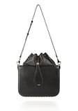 ALEXANDER WANG FLAT BUCKET BAG IN BLACK WITH YELLOW GOLD Shoulder bag Adult 8_n_f