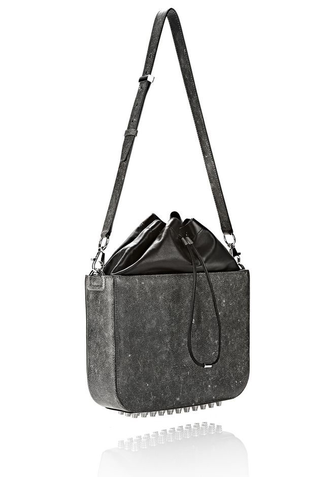 ALEXANDER WANG EXCLUSIVE DISTRESSED FLAT BUCKET BAG IN EROSION  Shoulder bag Adult 12_n_d