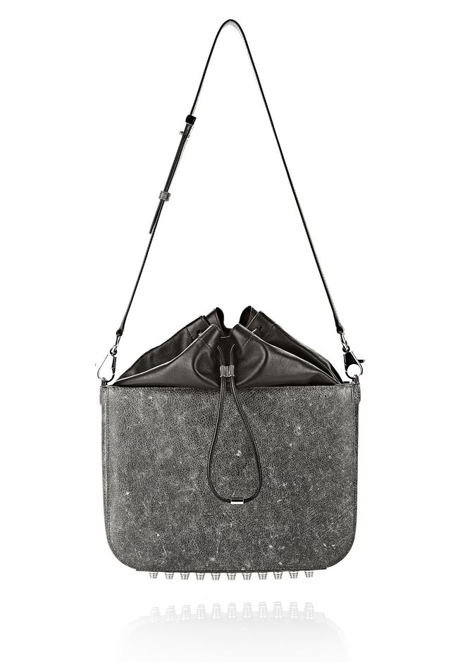 ALEXANDER WANG EXCLUSIVE DISTRESSED FLAT BUCKET BAG IN EROSION  Shoulder bag Adult 12_n_f