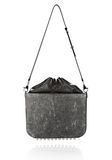 ALEXANDER WANG EXCLUSIVE DISTRESSED FLAT BUCKET BAG IN EROSION  Shoulder bag Adult 8_n_e
